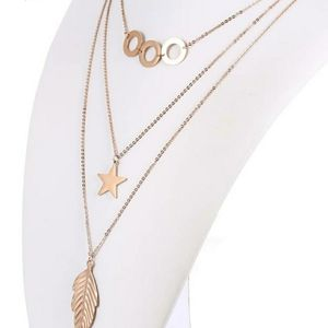 Multiple layer gold chain